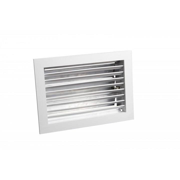 Вентиляционная алюминиевая решетка однорядная с клапаном Арктос АМР 150x150
