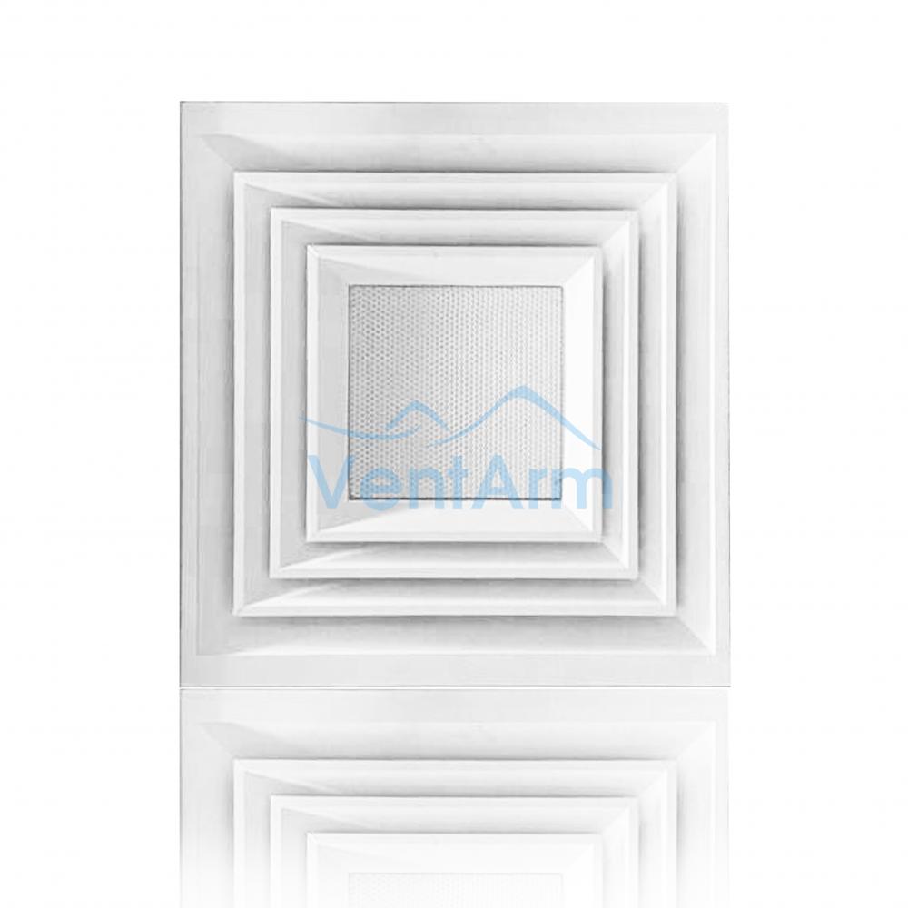 Диффузор потолочный алюминиевая с решеткой  АРКТОС  4АПН-П 600х600