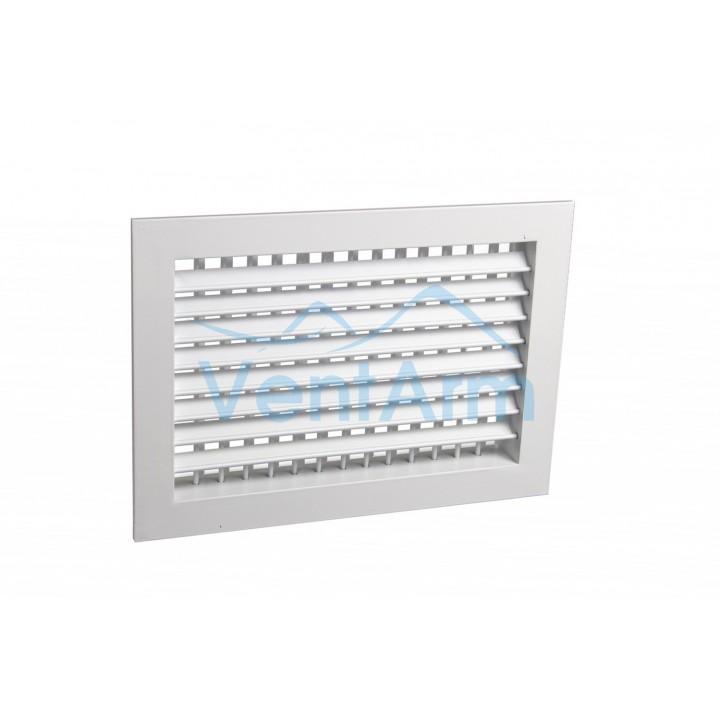 Вентиляционная алюминиевая решетка двухрядная Арктос АДН 400x300