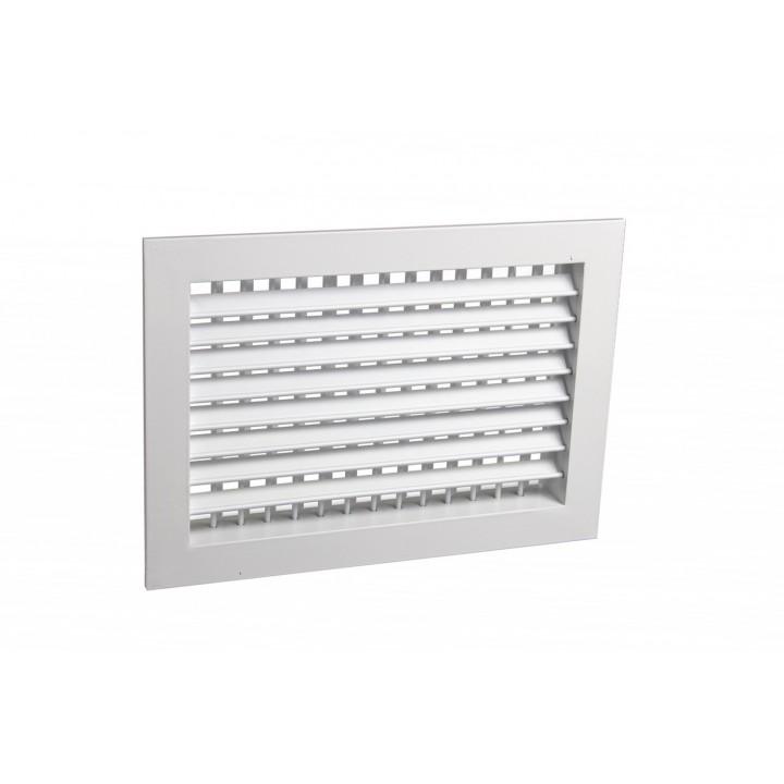 Вентиляционная алюминиевая решетка двухрядная Арктос АДН 300x300