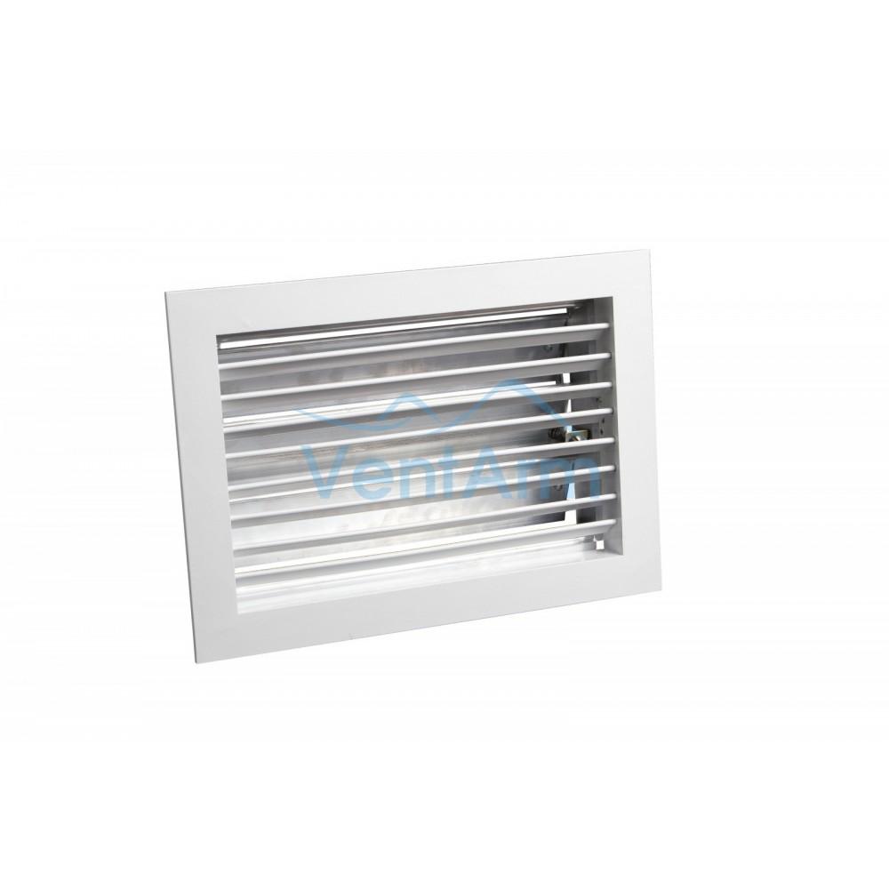 Вентиляционная алюминиевая решетка с клапаном Арктос АМР 700x300