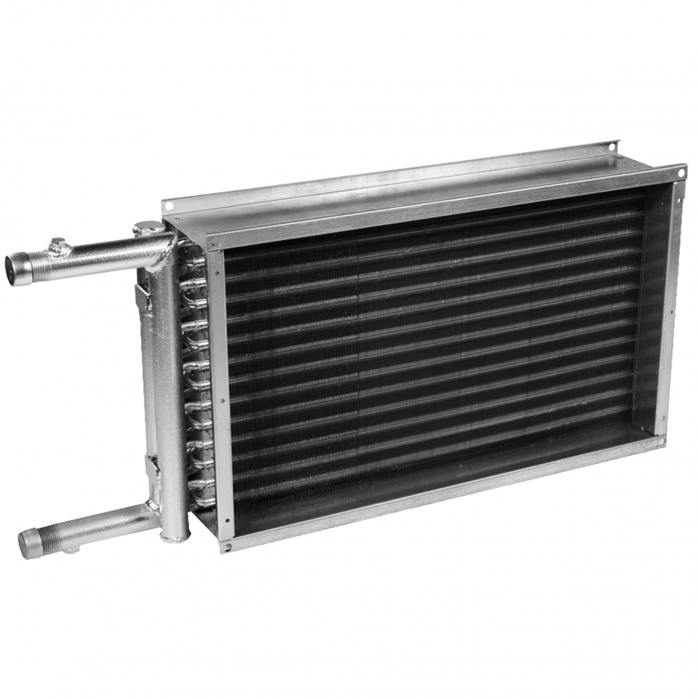 Водяной нагреватель для прямоугольных каналов Polar Bear PBAS 800х500-4-2.5