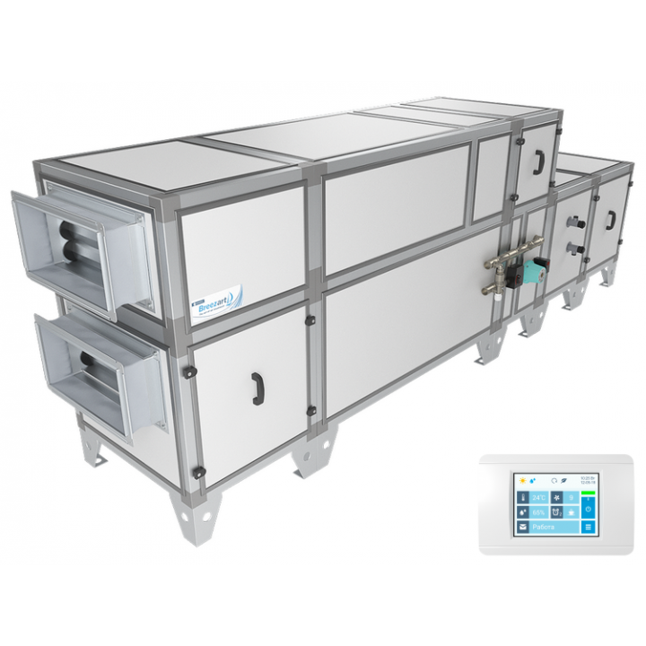 Приточно-вытяжная установка Breezart 2000 Aqua RP W PB