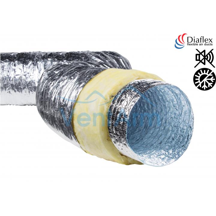 Гибкие воздуховоды теплозвукоизолированные Diaflex SonoDF-S 102 мм