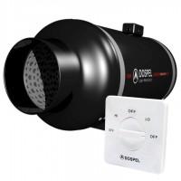 Канальный вентилятор в шумоизолированном корпусе Dospel Turbo Silent 200 с регулятором скорости