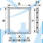 Люк ревизионный пластиковый EVECS Л1015Р 10x15
