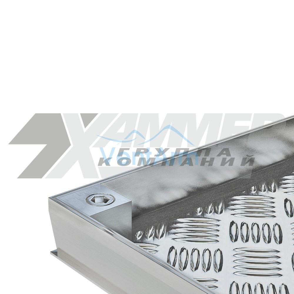 Напольный люк Хаммер Премьер 900x900 с газовыми амортизаторами