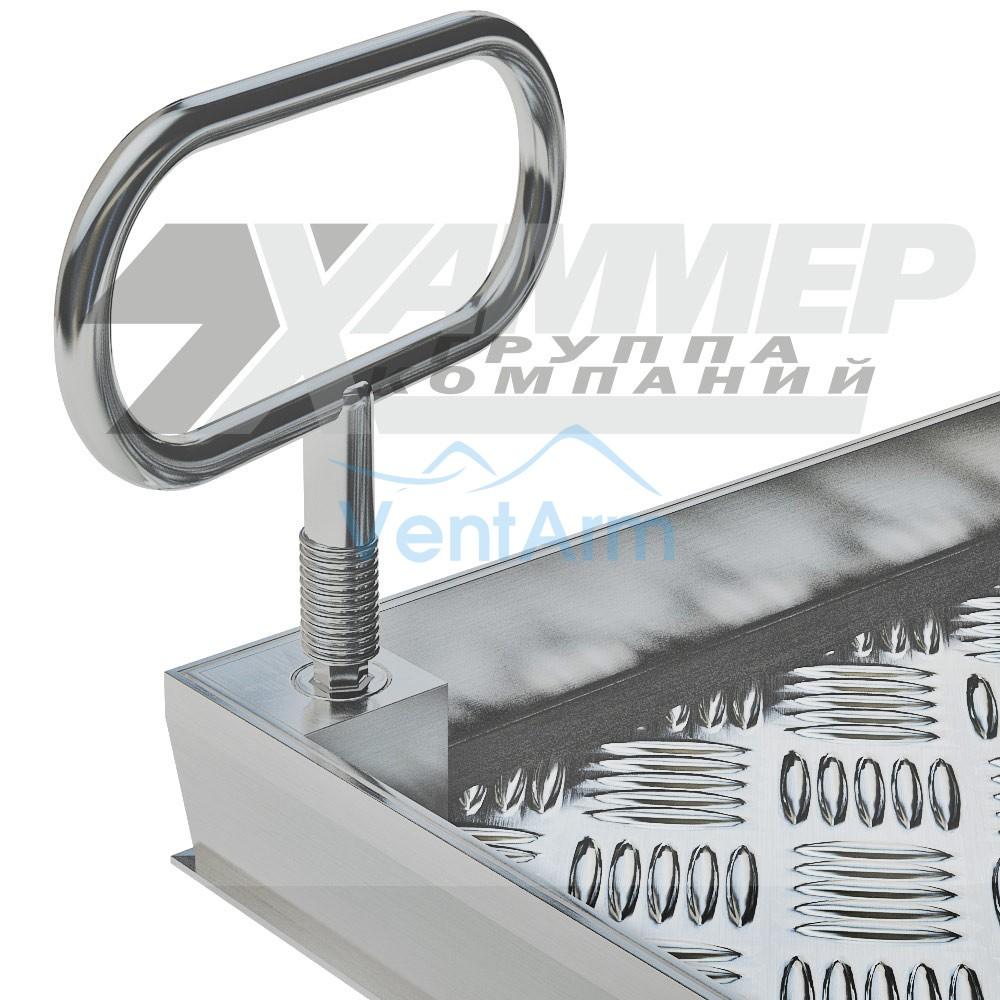 Напольный люк Хаммер Премьер 800x800 с газовыми амортизаторами