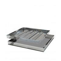 Люк напольный  алюминиевый съемный Хаммер Премиум 1000x1000  (винт-ручки)
