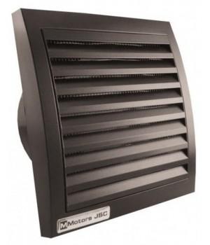 Вентилятор накладной ММ-100 Квадрат. Черный с обратным клапаном
