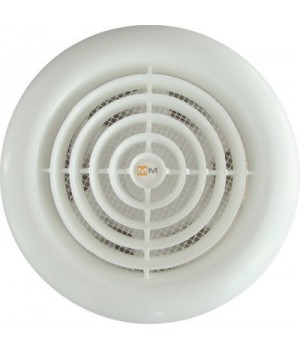 Вентилятор накладной ММ-100 Круглый. Белый с обратным клапаном