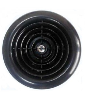 Вытяжной вентилятор MMotors MM 100 круглый, черный 16 Вт