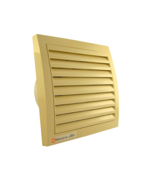 Вентилятор накладной ММ-100 Квадрат. Кремовый с обратным клапаном