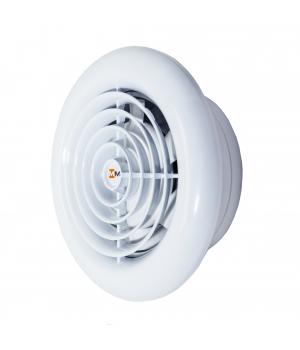 Вытяжной вентилятор MMotors MM 100 круглый, белый 16 Вт
