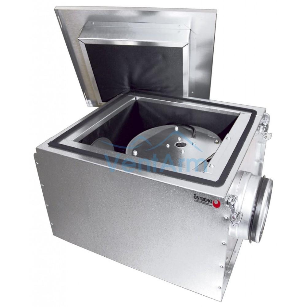 Вентилятор  в шумоизолированном корпусе Ostberg IRE 125 B1
