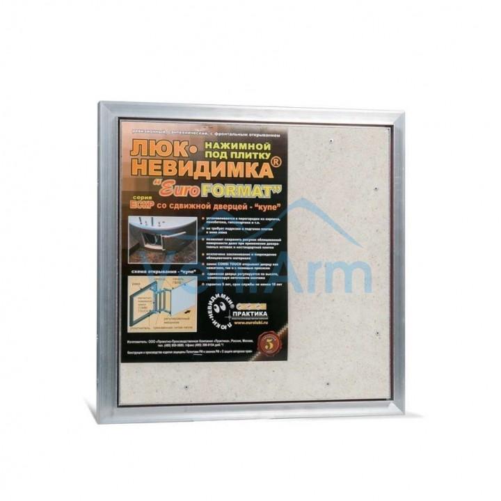 Ревизионный люк Евроформат ЕСКР 50-50 настенный под плитку ПРАКТИКА
