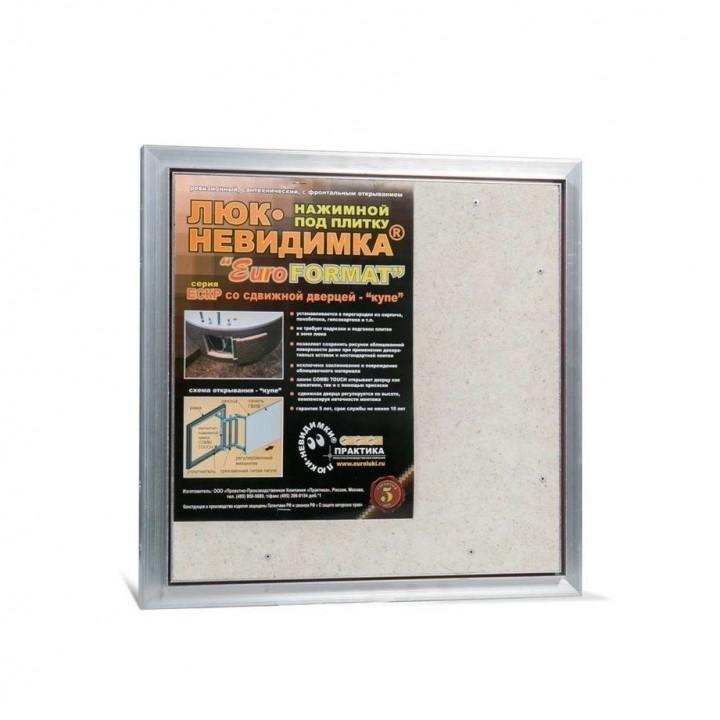 Ревизионный люк Евроформат ЕСКР 40-40 настенный под плитку ПРАКТИКА