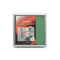 Люк под плитку нажимной со съемной дверцей Практика Контур 2.0 KP 20x20