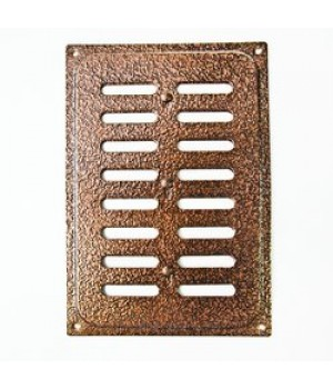 Металлическая решетка с задвижкой 16х24 Медь