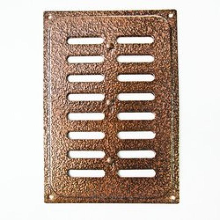 Решетка металлическая с задвижкой Ванвент 16х24 Медь