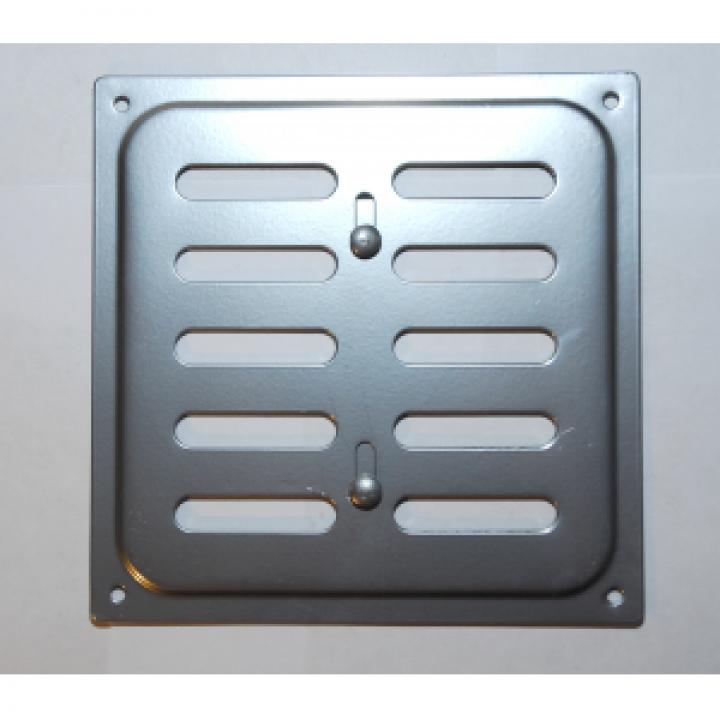 Металлическая решетка с задвижкой 16х16 Хром