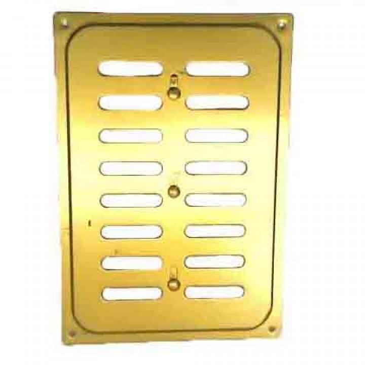 Металлическая решетка с задвижкой 16х24 Золото