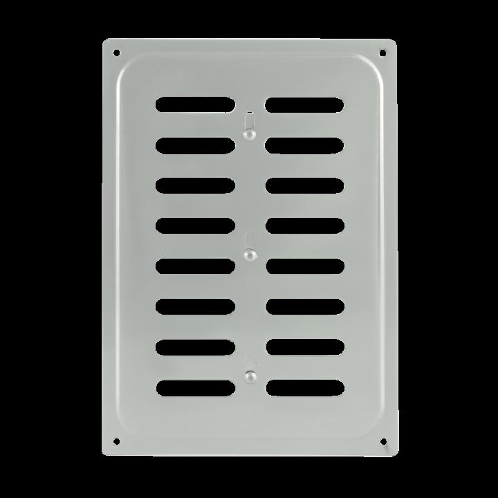 Металлическая решетка с задвижкой 16х24 Хром