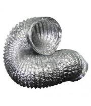 Гибкий неизолированный металлизированный воздуховод АПЛ Ø254х10м