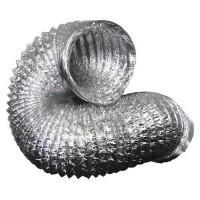 Гибкий неизолированный металлизированный воздуховод АПЛ Ø406х10м