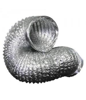 Гибкий неизолированный металлизированный воздуховод АПЛ Ø102х10м