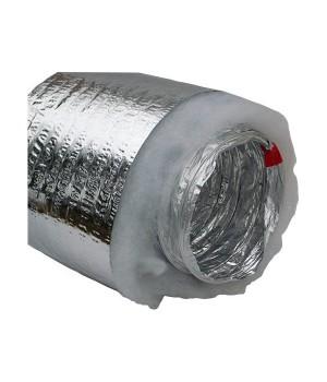 Гибкий теплоизолированный металлизированный воздуховод АПЛ ?102х10м