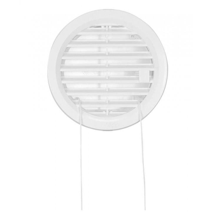 Решетка вентиляционная пластиковая с клапаном Haco VM Ø125 Белый