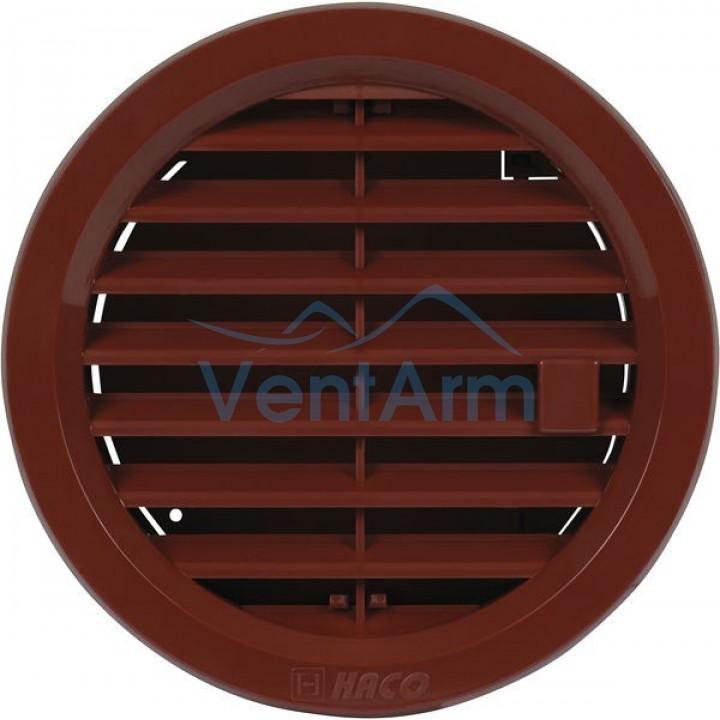 Решетка вентиляционная пластиковая с клапаном Haco VM Ø125 Коричневый