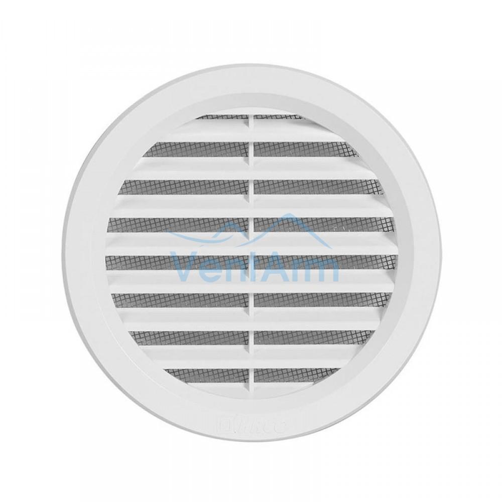 Решетка вентиляционная пластиковая Haco VM Ø125 Белый