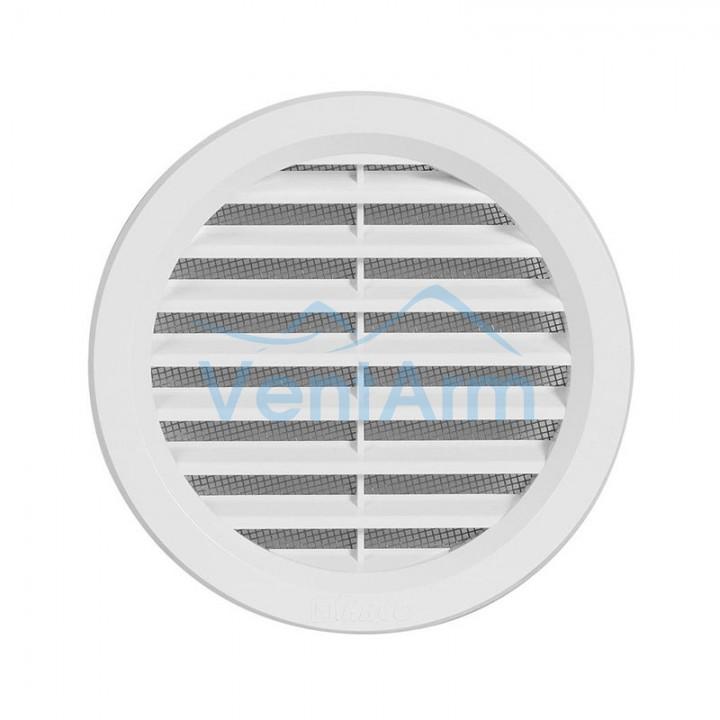 Решетка вентиляционная пластиковая Haco VM Ø100 Белый