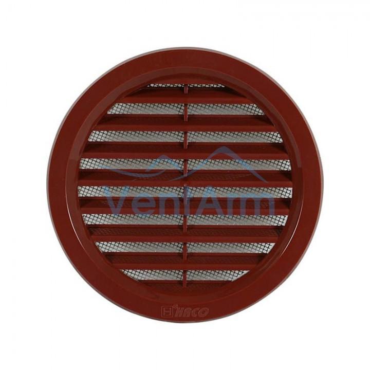 Решетка вентиляционная пластиковая Haco VM Ø125 Коричневый