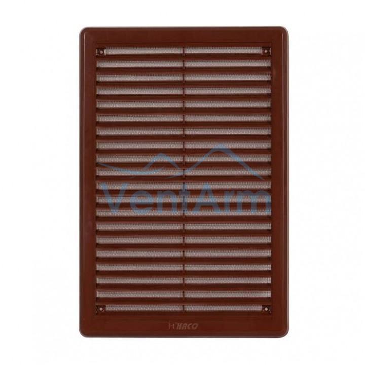 Решетка вентиляционная пластиковая  Haco VM 175x250 Коричневый