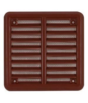 Решетка вентиляционная пластиковая  Haco VM 100x100 Коричневый