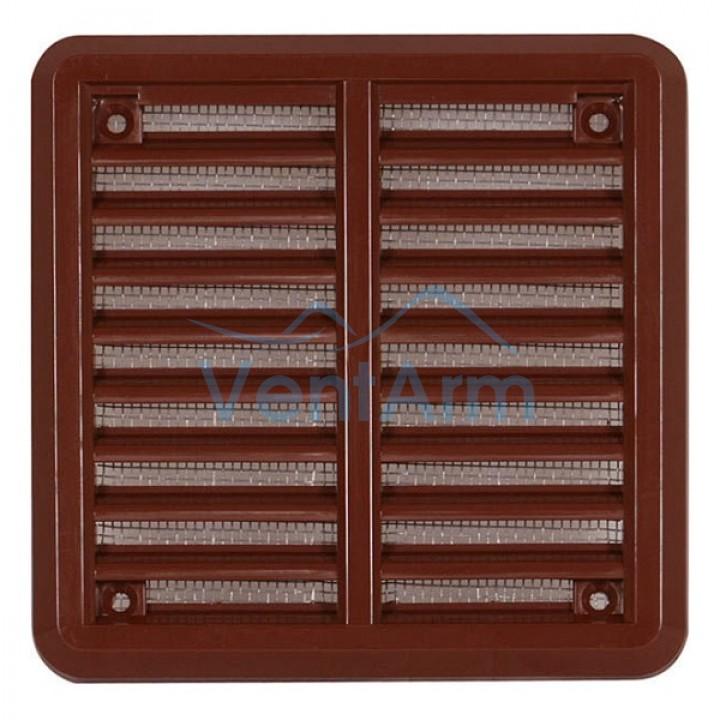 Решетка вентиляционная пластиковая  Haco VM 150x150 Коричневый