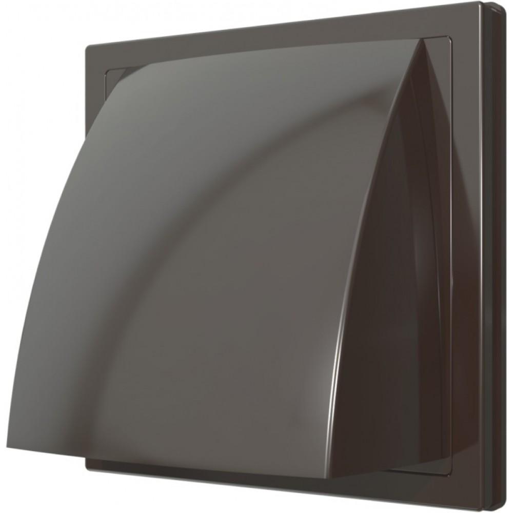 Выход стенной вытяжной с обратным клапаном ERA 1515К12.5ФВ 125мм коричневый