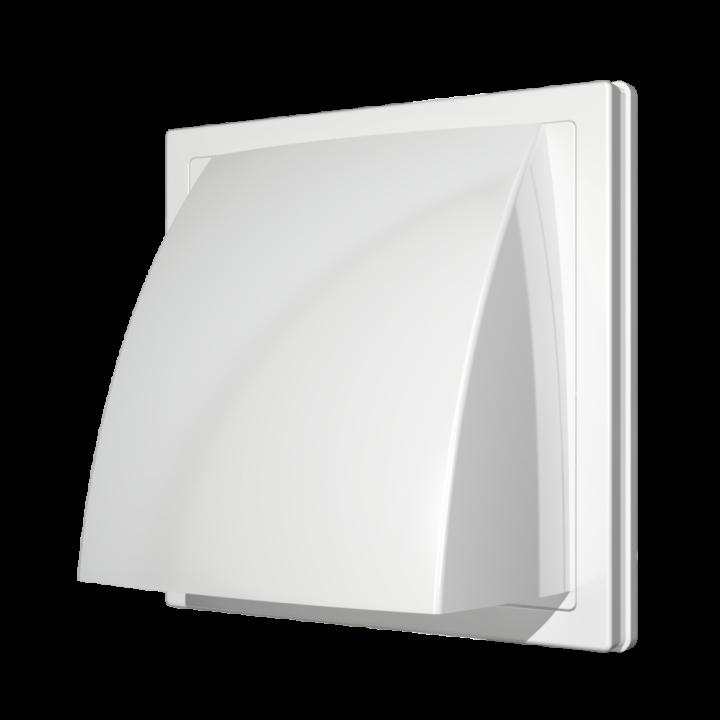 Выход стенной вытяжной с обратным клапаном ERA 1515К12.5ФВ  125мм белый