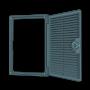 Люк-дверца ревизионная вентилируемая, накладная ERA 2525ДФ 250х250