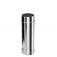 Труба-Дымоход из нержавеющей стали Ø120 1(мм) 1м