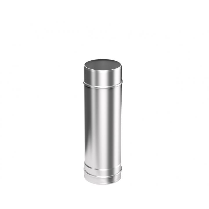 Труба-Дымоход из нержавеющей стали Металлик и КО 150 1м Нм 1.00