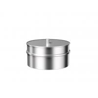 Заглушка с конденсатоотводом из нержавеющей стали Металлик и КО 180 Нм 1.00 мм