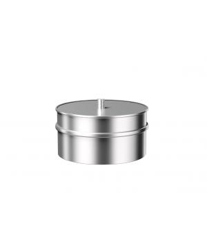 Заглушка с конденсатоотводом из нержавеющей стали Металлик и КО 120 Нм 1.00 мм
