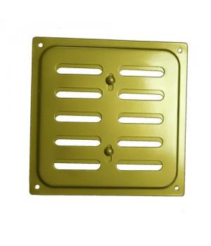 Металлическая решетка с задвижкой 16х16 Золото
