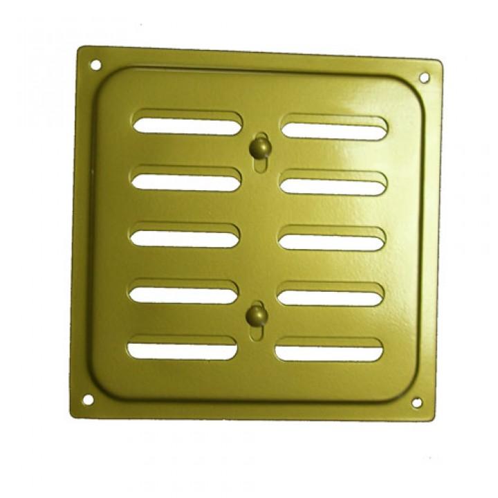 Металлическая решетка с задвижкой 20х20 Золото