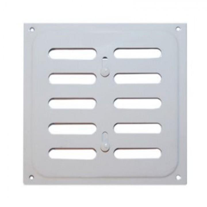 Металлическая решетка с задвижкой 20х20 Белый