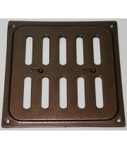 Решетка металлическая с задвижкой Ванвент 16х16 Медь